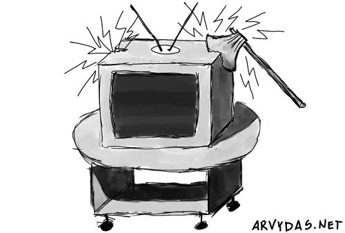 Sulaužytas televizorius