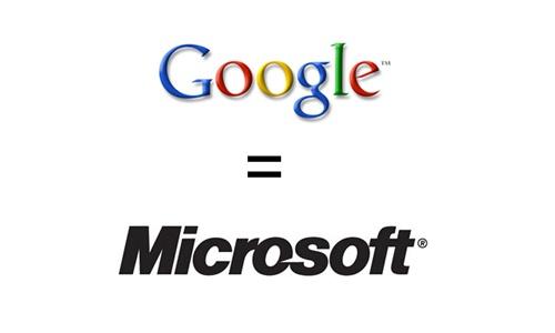 Googe = Microsoft